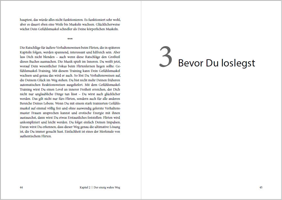 Ungeschriebenes Gesetz: Jedes Kapitel beginnt prominent auf einer rechten Seite