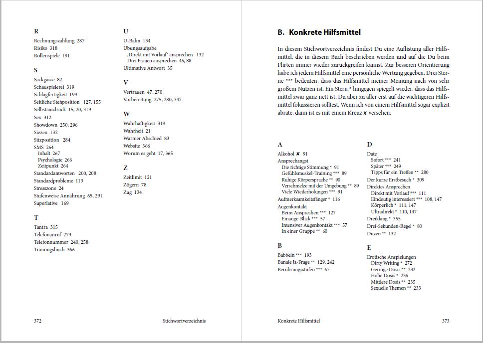 Service für die Leser: Zwei Stichwortverzeichnisse am Ende des Buches
