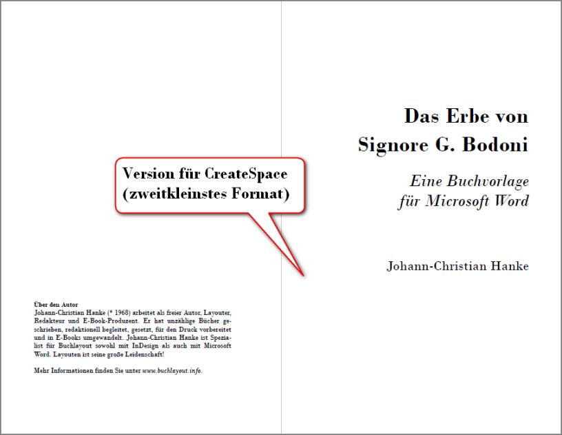Das Erbe von Signore Bodoni, Version CS2