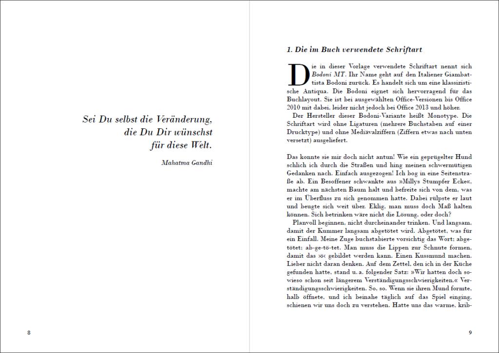 Das Erbe von Signore G. Bodoni (A5): Anfang des Buches