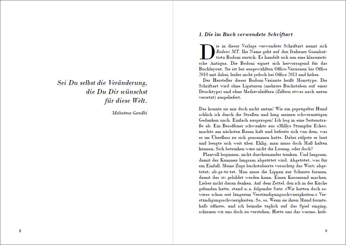 """Attraktive Vorlage für Selfpublisher: """"Das Erbe von Bodoni"""" jetzt ..."""