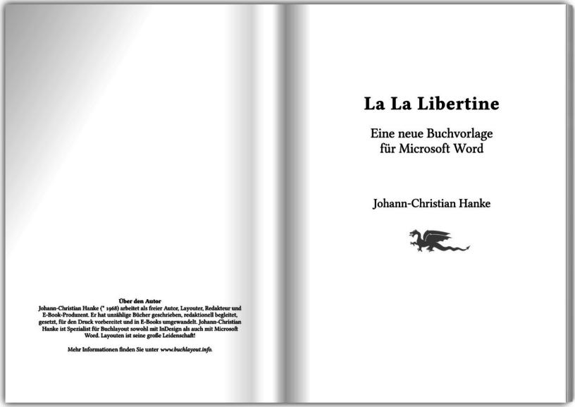 Klassisch-beschwingte Buchvorlage »La La Libertine« von Johann-Christian-Hanke