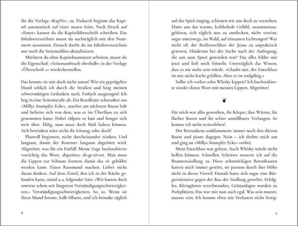 Doppelseite der Vorlage »A Cormorant Book« von Johann-Christian Hanke