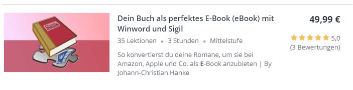 Dein Buch als perfektes E-Book mit Winword und Sigil