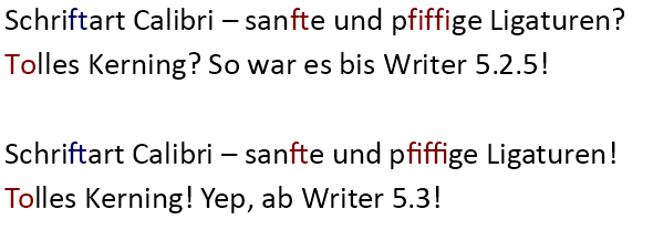 Die neuen OpenType-Layout-Features im Writer aus LibreOffice ab 5.3