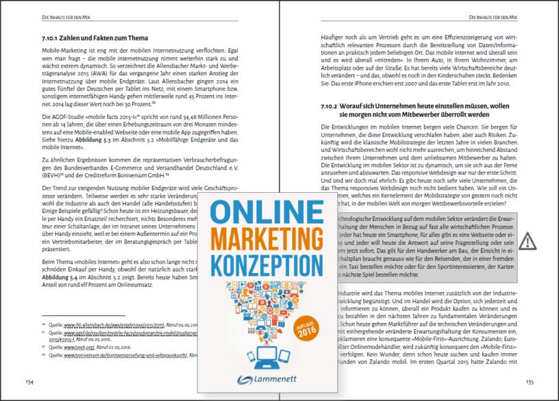 Online-Marketing-Konzeption, Auflage 2016 von Dr. Erwin Lammenett