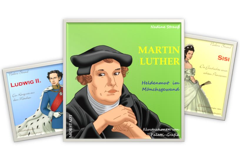 Martin Luther: Heldenmut-im Moenchsgewand, wundervoll verfasst von Nadine Strauß, gesetzt von Johann-Christian Hanke