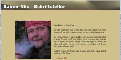 Schriftsteller Rainer Klis aus Hohenstein Ernstthal (Screenshot der Homepage rainer-klis.de)