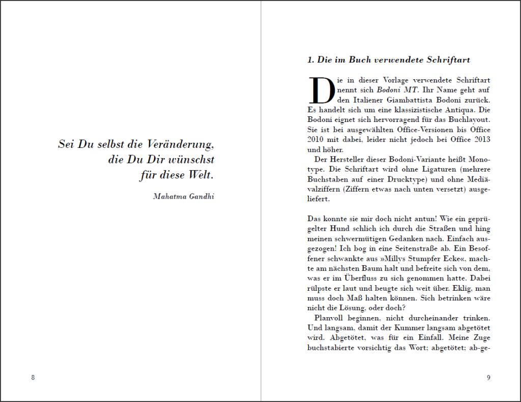 Das Erbe von Signore G. Bodoni: Anfang des Buches