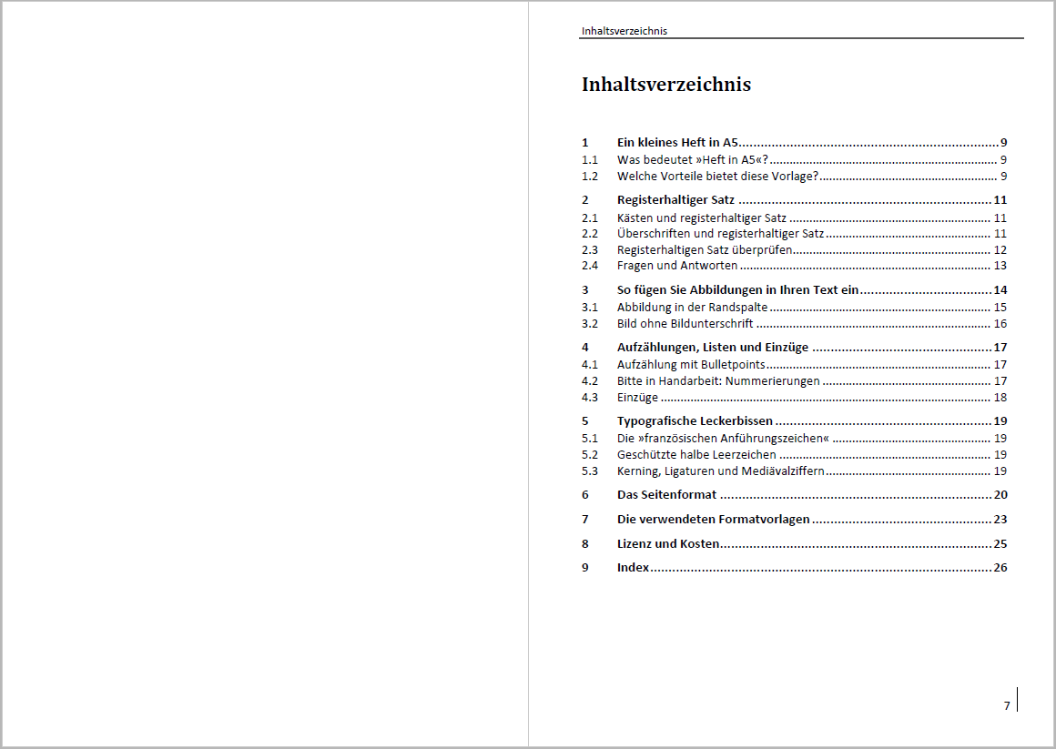 Attraktive Vorlage für ein Sachbuch in A5: Mit Kästen, Bildern und ...
